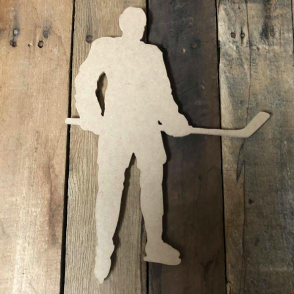 Hockey Player 1 Unfinished Cutout Hockey Wooden Shape