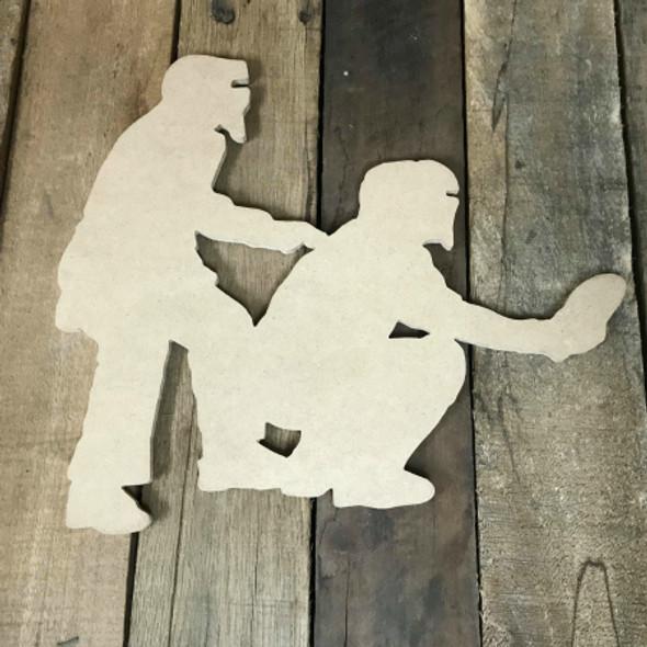 Baseball Umpire Unfinished Wooden Craft Decor Wooden Cutout MDF DIY