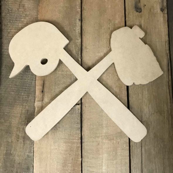 Baseball Bats Glove Unfinished Wooden Craft Decor Wood Cutout MDF DIY
