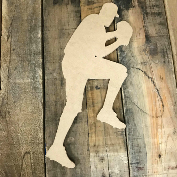 Baseball Player Pitcher Unfinished Wooden Craft Decor Wood Cutout MDF