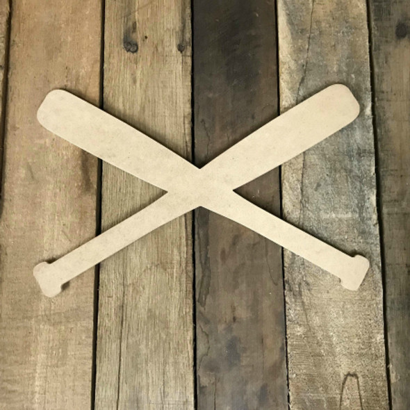 Baseball Bats Unfinished Wooden Craft Decor Wood Cutout MDF