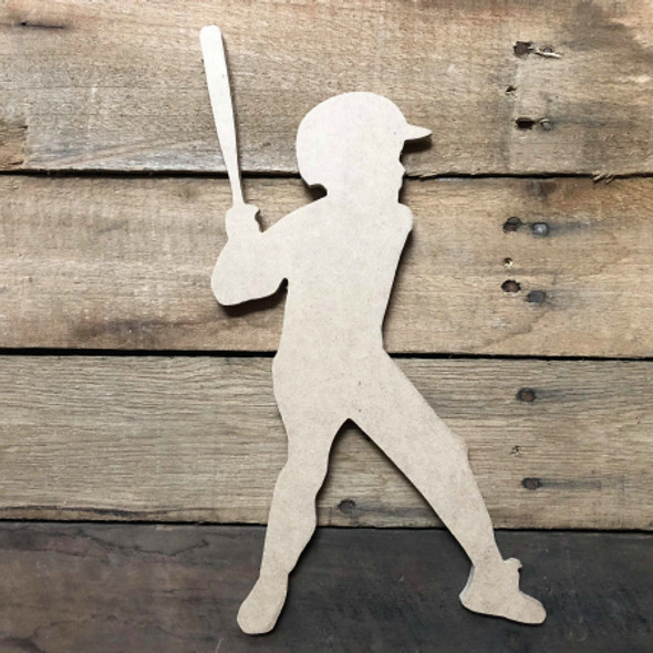 Tee Ball Batter 1 Unfinished Wooden Craft Decor Wood Cutout MDF