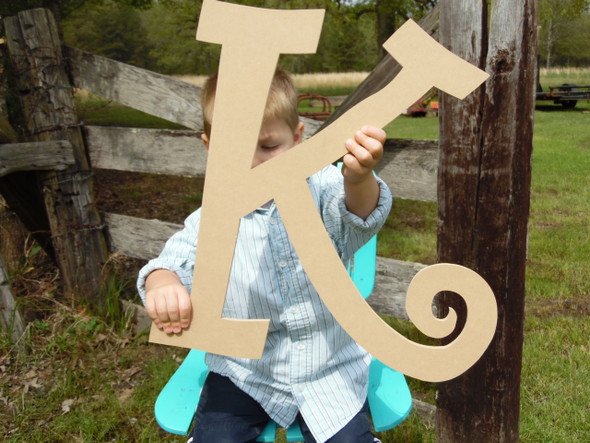 Wooden Letters Wall Hanging (K) Curlz Big Wood Letters Wall Hanging