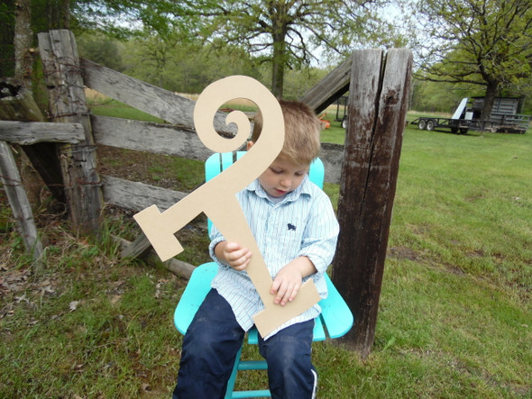 MDF Craft Letters Cut Out Wooden Letters (T) Curlz Unpainted Letters