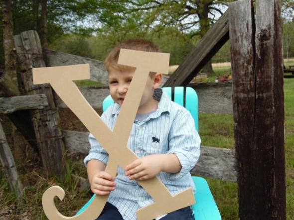 Craft Cuts Wooden Letters Unpainted Wood Letters (X) Curlz Wooden