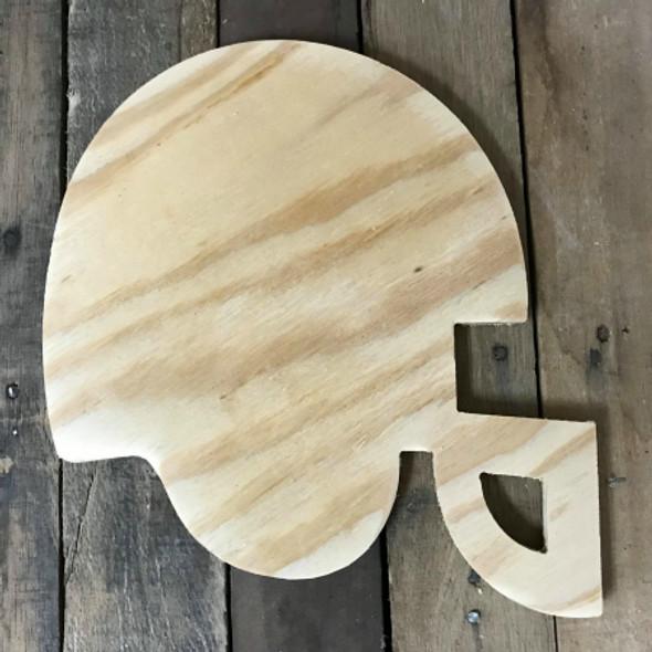 Wooden Pine Cutout, Football Helmet, Unfinished Wood Shape, DIY