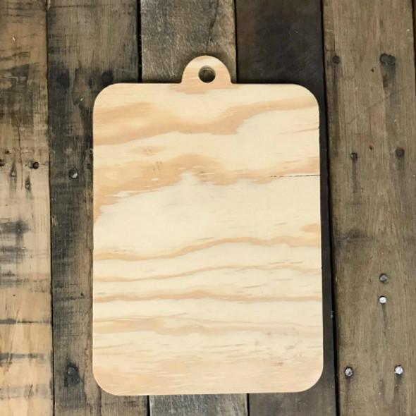 Wood Pine Shape, Clipboard, Unpainted Wooden Cutout DIY
