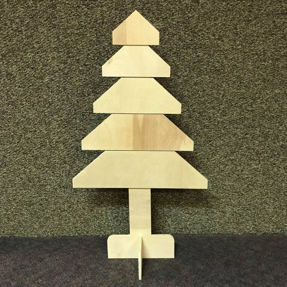 Straight Tree, Unfinished Christmas Tree, White Pine, Photo Prop