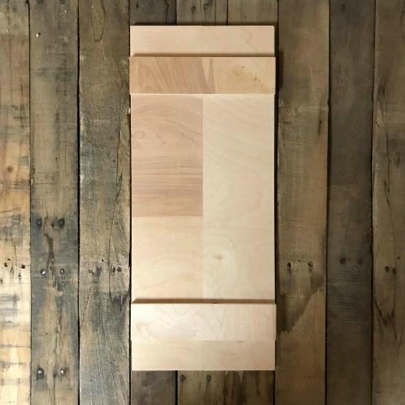 24'' Mini Shudder, Unfinished Wood Shudder, White Pine, Photo Prop