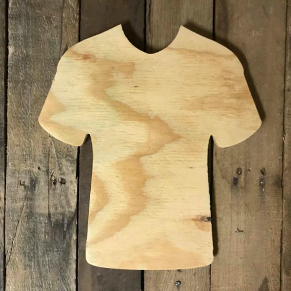 Wood Pine Shape, Baseball Jersey, Unpainted Wooden Cutout DIY