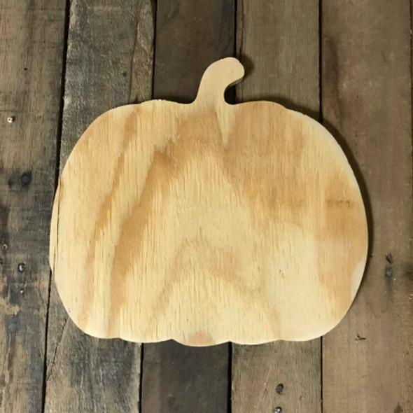 Wood Pine Shape, Pumpkin, Unpainted Wooden Cutout DIY