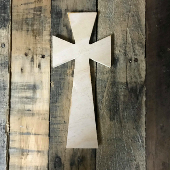 Wooden Wall Cross, Paintable Cross Craft, Wall Art Pine (14)