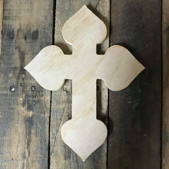 DIY Wall Cross, Paintable Wooden Cross, MDF Cross Pine (38)