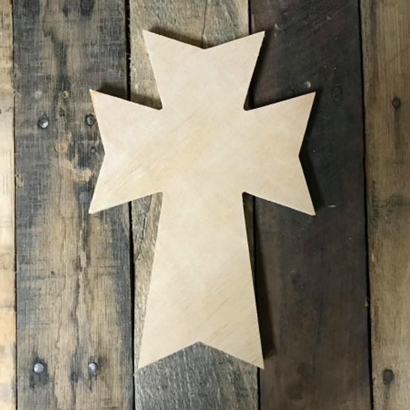 Wooden Wall Cross, Paintable Cross Craft, Wall Art Pine (46)