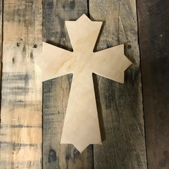 Wooden Wall Cross, Paintable Cross Craft, Wall Art Pine (47)