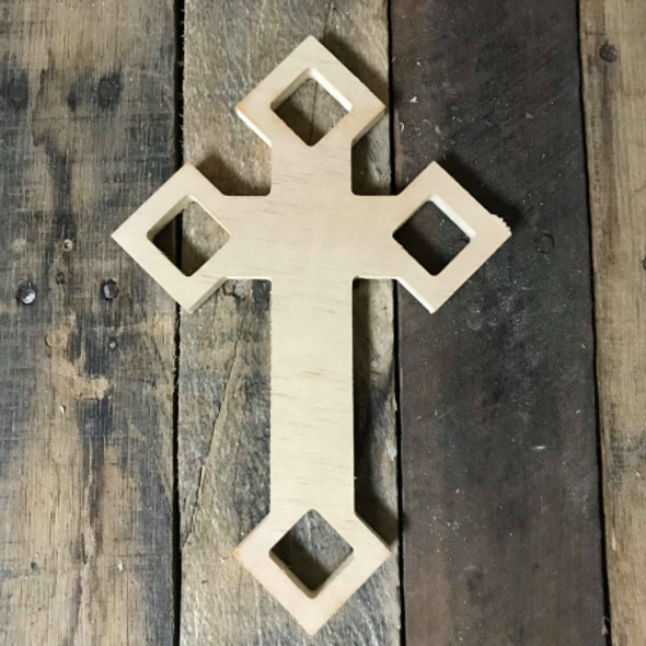 Unpainted Craft Cross, DIY Wooden Crosses, Wall Art Pine (58)