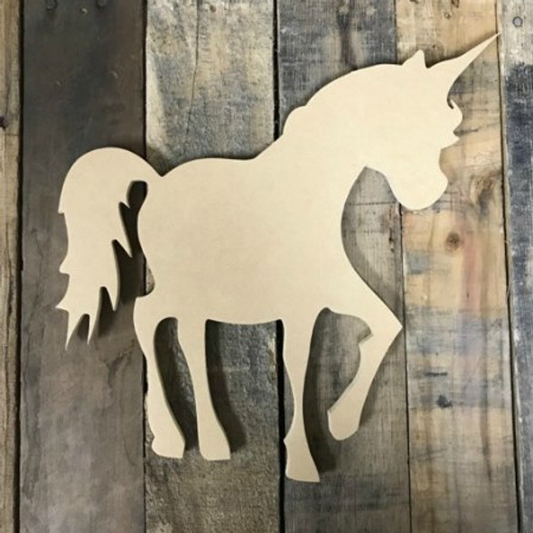Unicorn Unfinished, Wooden Shape, Paintable Wooden MDF DIY