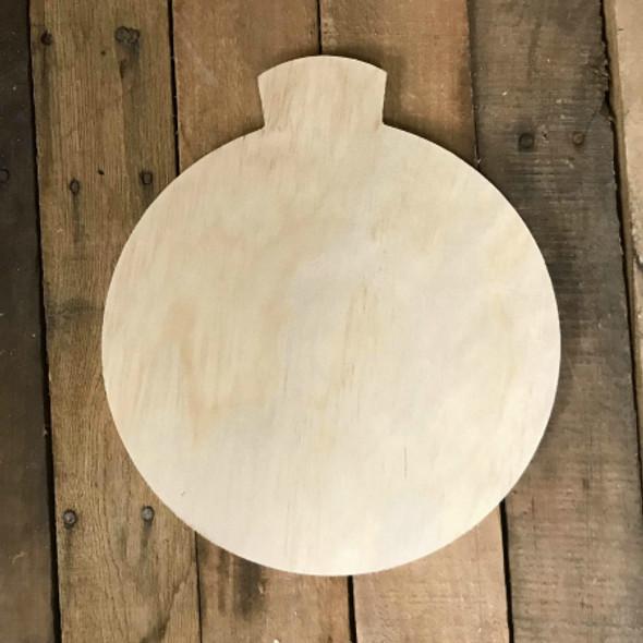 Wood Pine Shape, Ornament 3, Unpainted Wooden Cutout DIY