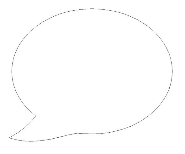 Speech bubble, DIY Unfinished Wooden Shapes Cutout
