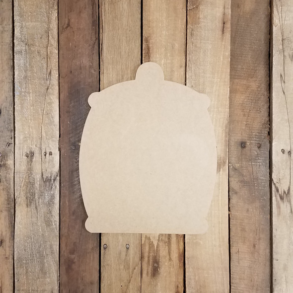 Honey Jar with Handle Wooden Shape, Paintable Wooden MDF