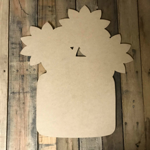 Sunflower in Jar,  Unfinished Wood Shape, DIY, Shapes Cut out