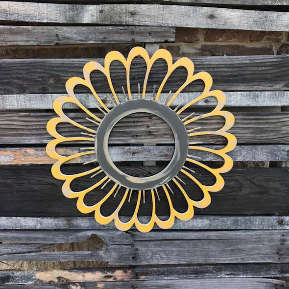 Sunflower with Cutouts, Unfinished Wood Shape, Fall Cutout