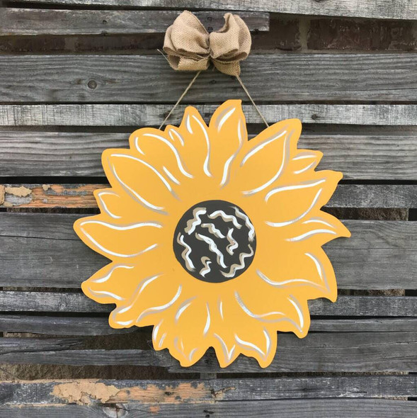 Sunflower Flower,  Unfinished Wood Shape, Fall Cutout