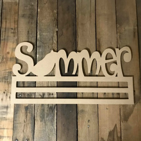 Summer Decor, Deco Mesh Door Hanger, Unfinished Wood Craft