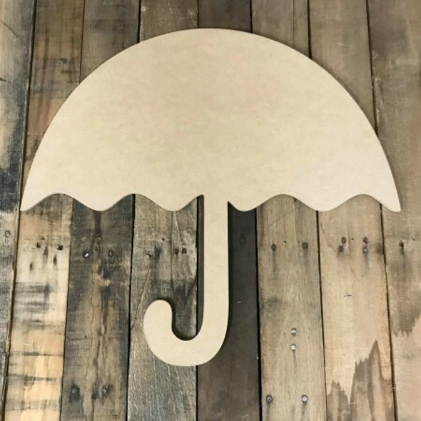 Umbrella 2 Unfinished Wooden Cutout