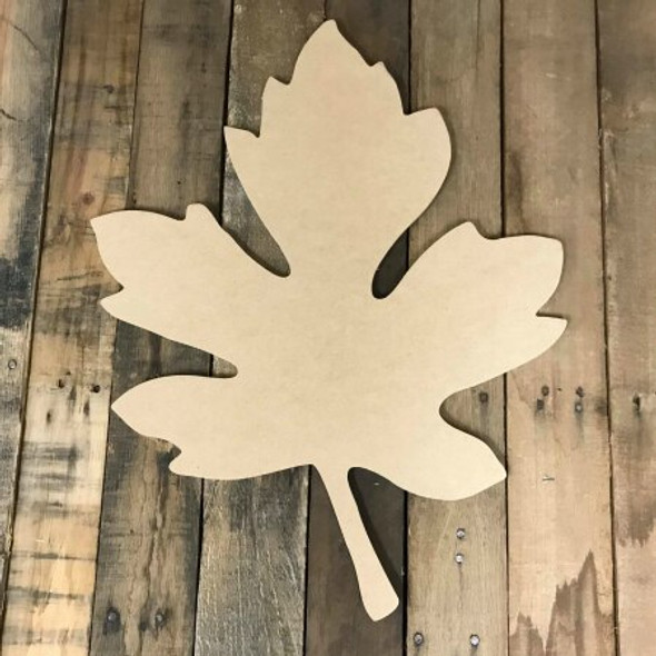 Oak Leaf Unfinished Wood Shape