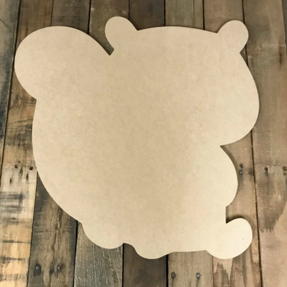 Squirrel with Big Tail, Unfinished Wood Shape, Fall Cutout