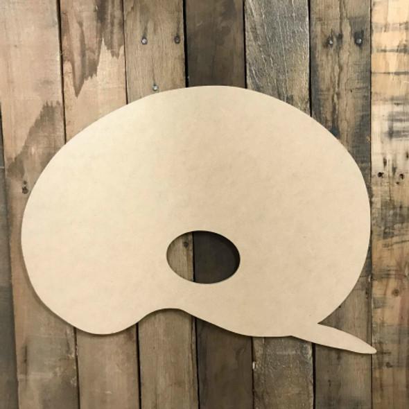 Paint Pallette, Craft Unfinished Wood Shape