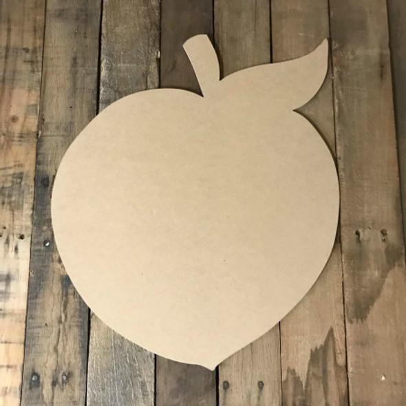 Peach 2, Craft Unfinished Wood Shape, Wood Cutout