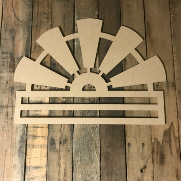 Windmill Deco Mesh Door Hanger, Unfinished Wood Craft