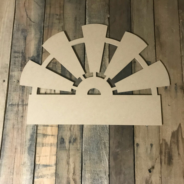 Half Windmill, Frame Unfinished Cutout MDF