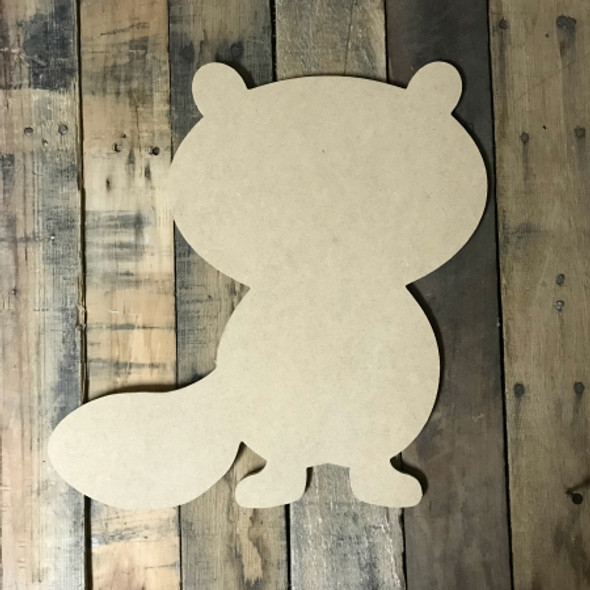 Squirrel with Tail, Craft Unfinished Wood Shape, Wood Cutout