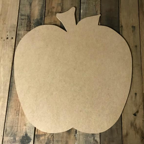 Sliced Apple, Craft Unfinished Wood Shape, Wood Cutout