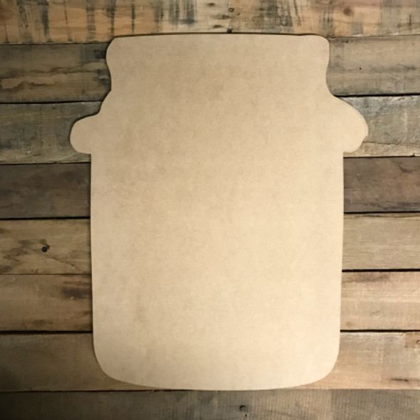 Mason Jar with Cloth Top, Craft Unfinished Wood Shape