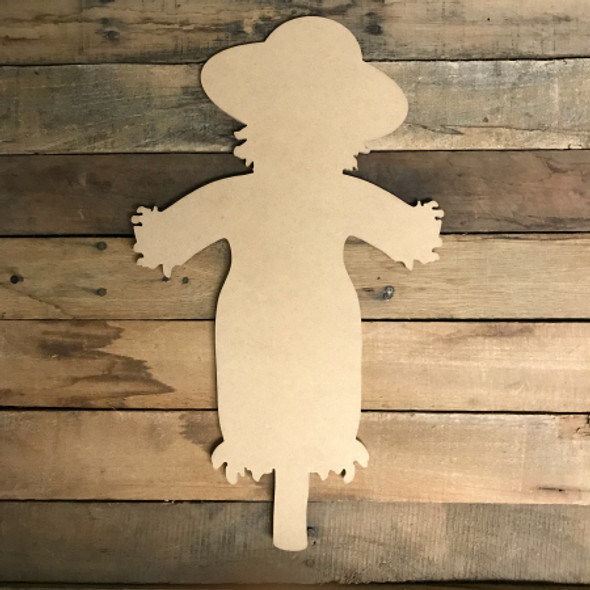 Scarecrow with Stick, Craft Unfinished Wood Shape