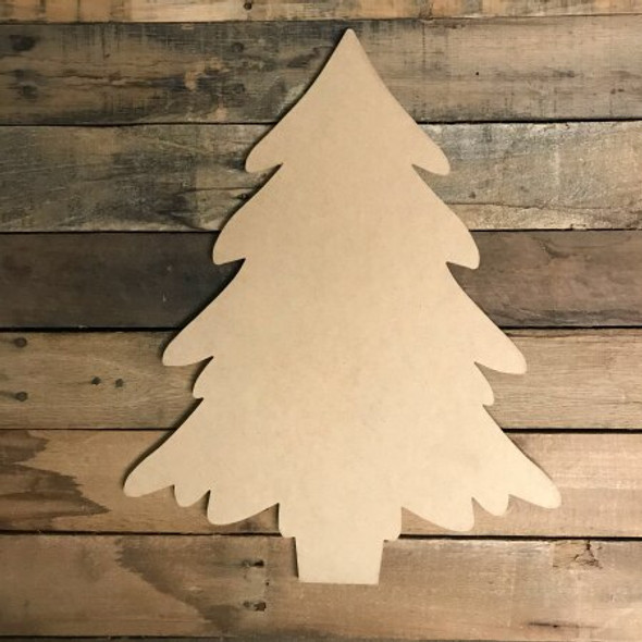 Christmas Tree with Stand Craft Unfinished Wood Shape