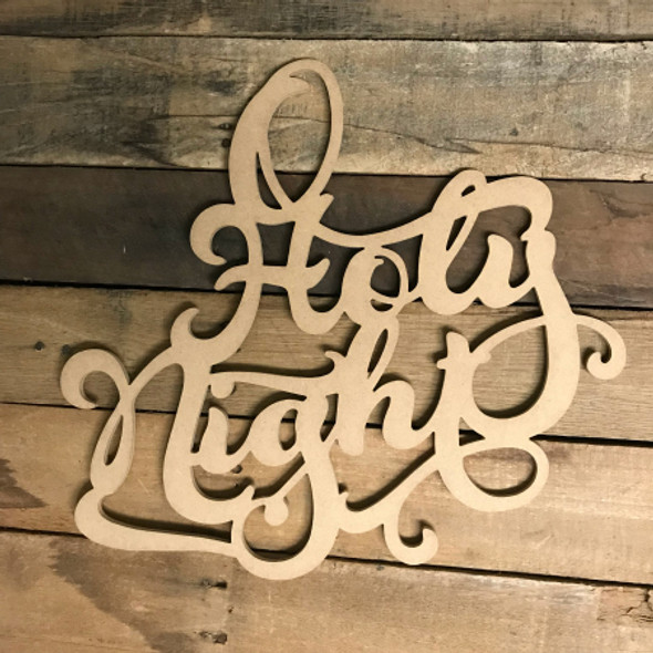 O Holy Night, Alphabet Paintable DIY