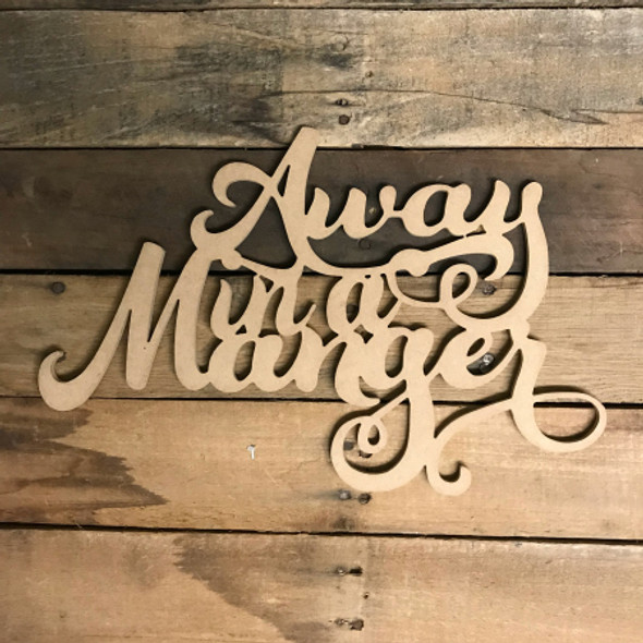 Away in a Manger, Alphabet Paintable DIY