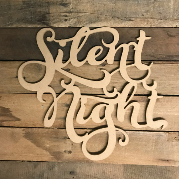 Silent Night, Alphabet Paintable DIY