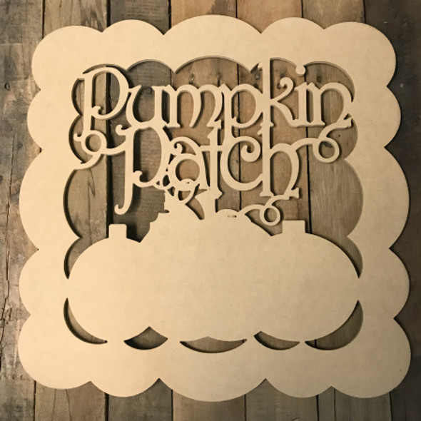 Pumpkin Patch with Border Wooden (MDF) Cutout - Unfinished