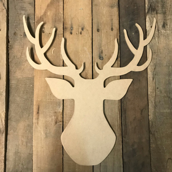 Wooden Deer Head Cutout, Wood Deer Cutout