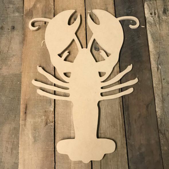 Wooden Lobster Cutout, Wood Lobster Shape, DIY