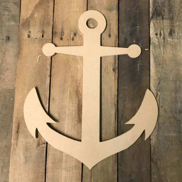 Wood Anchor Shape, Wooden Anchor Paintable Shape