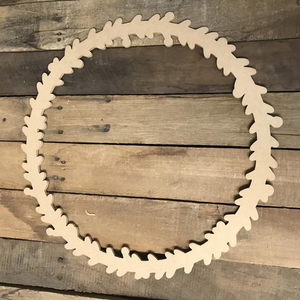 Wood Christmas Wreath (MDF) Cutout - Unfinished DIY Craft