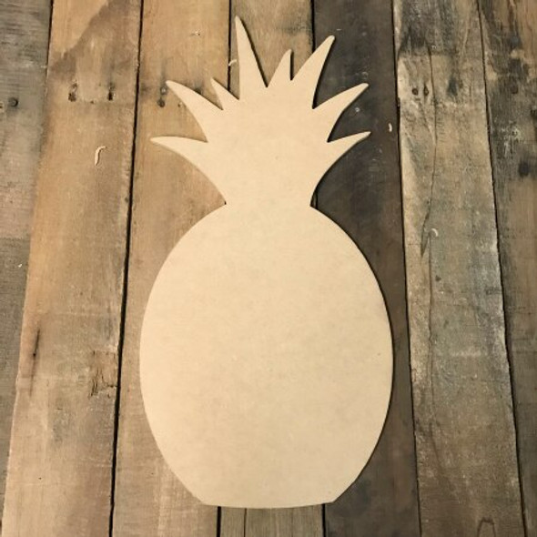 Wooden Pineapple Paintable Shape MDF
