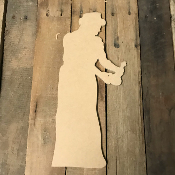 Wise Man Cutout, Wooden Paintable Shape